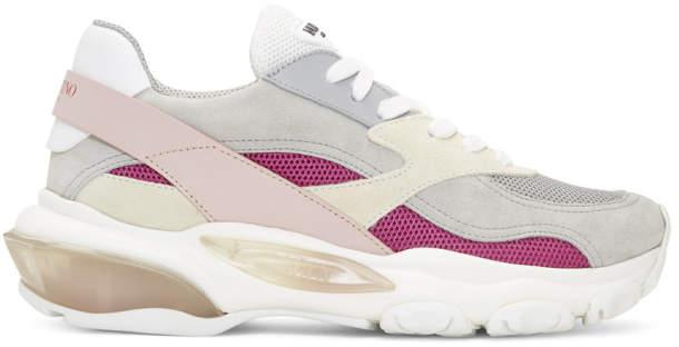 Valentino Grey Garavani Bounce Sneakers