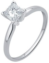 2.0 CT. T.W. IGL certified Princess-cut Diamond Solitaire Prong Set Ring in 14K Gold (HI-I3)