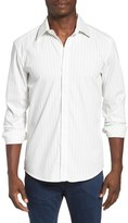 7 Diamonds Men's New Kids Trim Fit Stripe Woven Shirt