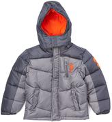 U.S. Polo Assn. Shade & Gray Color Block Puffer Coat - Boys