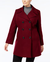 Anne Klein Plus Size Double-Breasted Peacoat