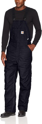 Carhartt Men's Flame Resistant Quick Duck Lined Bib Overall