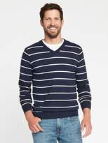 Old Navy Striped V-Neck Sweater for Men