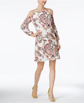 INC International Concepts Paisley-Print Cold-Shoulder Dress, Created for Macy's