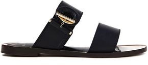Lanvin Ring-detailed Leather Sandals