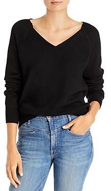 Aqua Deep V Neck Cashmere Sweater - 100% Exclusive
