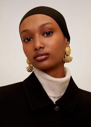 MANGO Tassel metallic earrings