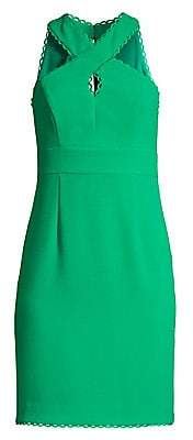 Trina Turk Women's Rafter Criss-Cross Halter Sheath Dress - Size 0
