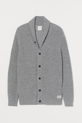 H&M Shawl-collar Cardigan - Gray