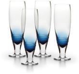 Mikasa Swirl Cobalt Pilsner Glasses, Set of 4