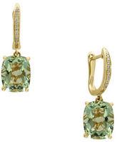 Effy Diamonds, Green Amethyst and 14K Yellow Gold Drop Earrings