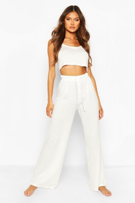 boohoo Mix & Match Super Soft Wide Leg Lounge Pant