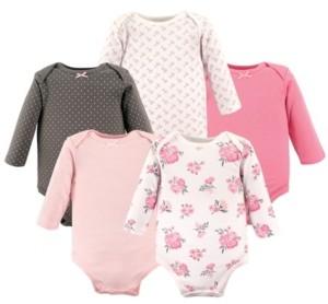 Hudson Baby Baby Girls Cotton Long-Sleeve Bodysuit Set