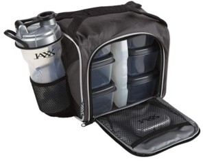 Fit & Fresh Original Jaxx Fitpak, Insulated Cooler Lunch Box, Meal Prep Bag with 6 Bpa- Free Portion Control Containers, Ice Pack, 28-Oz