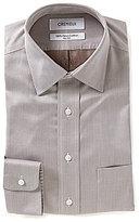 Daniel Cremieux Non-Iron Herringbone Classic Fitted Spread-Collar Dress Shirt