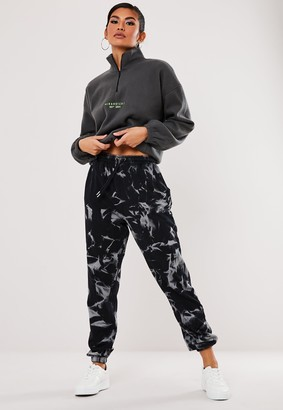 Missguided Grey Tie Dye 90S Joggers