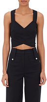 Derek Lam Women's Crossover Crop Top-BLACK