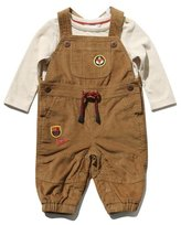 M&Co Badge dungarees and top set