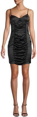 Missguided Satin Ruched Mini Dress