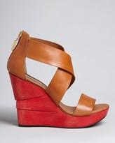 Diane von Furstenberg Platform Wedge Sandals - Opal High Heel