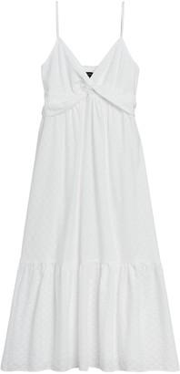 Banana Republic Textured Cotton Twist-Front Midi Dress