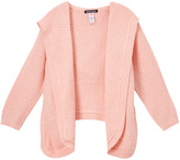 KensieGirl Peach Hooded Open Cardigan - Girls