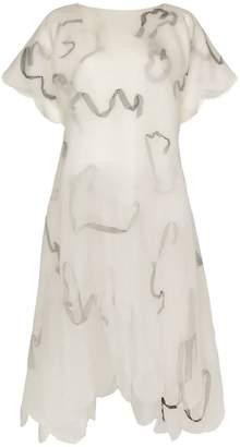 Susan Fang ribbon-detail layered midi-dress