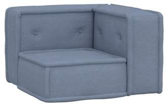 Pottery Barn Teen Cushy Lounge Armless Chair, Enzyme Washed Denim, QS EXEL