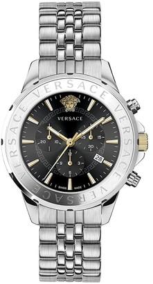 Versace Chrono Signature Stainless Steel Bracelet Watch