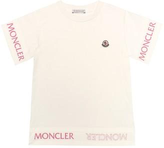 Moncler Enfant Logo stretch-cotton jersey T-shirt