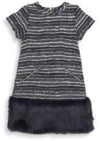 Andy & Evan Toddler's, Little Girl's & Girl's Faux Fur Hem Shift Dress