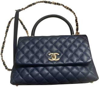 Chanel Coco Handle Navy Lizard Handbags