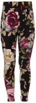 Expert Design Girl's Big Floral Print Leggings with Elastic Waist - L/XL