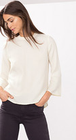 Esprit OUTLET floaty blouse w trumpet sleeves