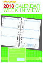 Debden 2018 Dayplanner Refill Desk Week To View