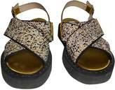Nâ°21 NA21 Yellow Glitter Sandals
