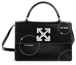 Off-White Women's Jitney 1.4 Cut Here Leather Top Handle Bag