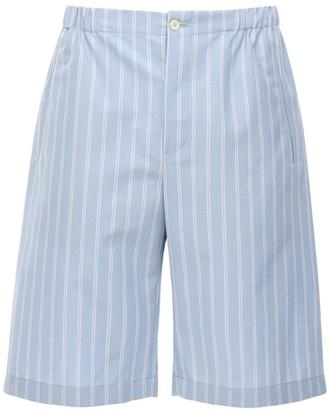 Gucci Gg Striped Cotton Blend Shorts
