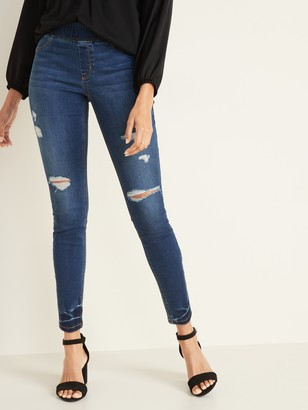 Old Navy Mid-Rise Distressed Rockstar Super Skinny Jeggings for Women