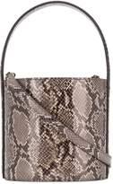 STAUD snakeskin-effect bucket bag