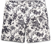 Club Monaco - Baxter Slim-fit Printed Linen And Cotton-blend Shorts