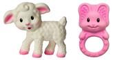 Infantino Squeeze & Teethe Pals-Lamb/Bunny - Pink