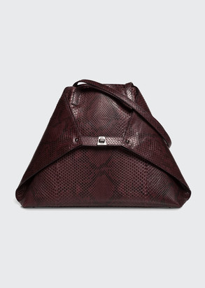 Akris AI Medium Soft Python Shoulder Bag