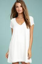 LuLu*s Freestyle White Shift Dress