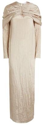 Deveaux Cape-Detailed Emma Dress