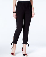 Amy Byer Juniors' Tie-Cuff Cropped Soft Pants