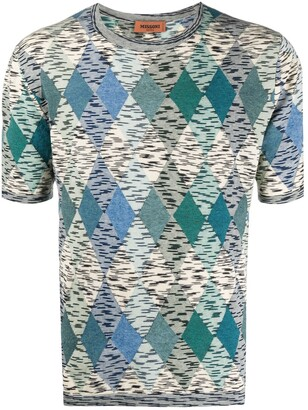 Missoni Argyle-Knit Short Sleeve Jumper