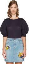 Stella McCartney Navy Round Sleeves T-shirt