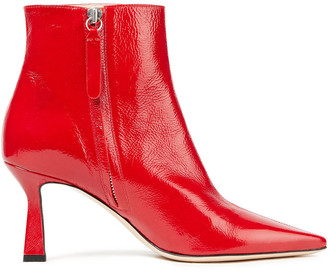 Wandler Line Crinkled Patent-leather Ankle Boots