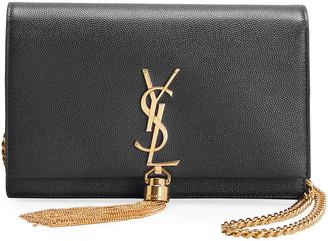 Saint Laurent Kate XS Monogram Grain de Poudre Wallet on Chain